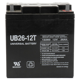 SLA UPG UB122260T - AGM Battery - Sealed Lead Acid - 12 Volt - 26 Ah Capacity - T3 Terminal
