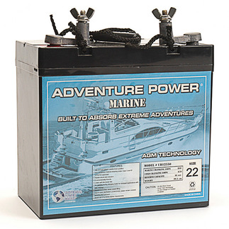 SLA UPG UB12550 (Group 22NF) - AGM Battery - Sealed Lead Acid - 12 Volt - 55 Ah Capacity - Marine Post Terminal