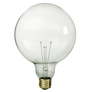 150 Watt - G40 - Clear - 5 in. Dia. - 120 Volt - 4,000 Life Hours - Decorative Globe - Medium Base - Satco S3014