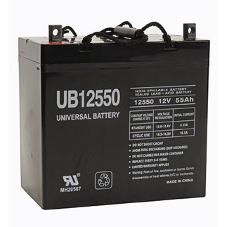 SLA UPG UB12550 (+ ON LEFT) - AGM Battery - Sealed Lead Acid - 12 Volt - 55 Ah Capacity - Z1 Terminal