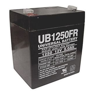 SLA UPG UB1250FR - AGM Battery - Sealed Lead Acid - 12 Volt - 5 Ah Capacity - F1 Terminal