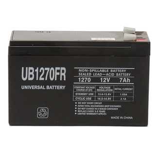 SLA UPG UB1270FR - AGM Battery - Sealed Lead Acid - 12 Volt - 8 Ah Capacity - F2 Terminal