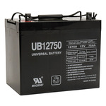 SLA UPG UB12750 (Group 24) - AGM Battery - Sealed Lead Acid - 12 Volt - 75 Ah Capacity - Z1 Terminal