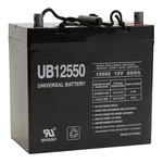 SLA UPG UB12550 (Group 22NF) - AGM Battery - Sealed Lead Acid - 12 Volt - 55 Ah Capacity - Z1 Terminal
