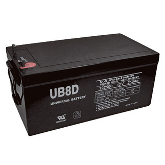 UPG UB-8D AGM - AGM Battery - Sealed Lead Acid - 12 Volt - 250 Ah Capacity - L4 Terminal