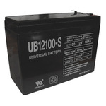 SLA UPG UB12100-S - AGM Battery - Sealed Lead Acid - 12 Volt - 10 Ah Capacity - F2 Terminal