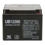 SLA UPG UB12260 - AGM Battery - Sealed Lead Acid - 12 Volt - 26 Ah Capacity - T3 Terminal