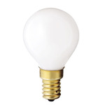 40 Watt - G14 - White - 1-3/4 in. Dia. - 130 Volt - 1,000 Life Hours - Decorative Globe - European Base - Satco S3398