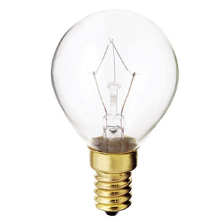 40 Watt - G14 - Clear - 1-3/4 in. Dia. - 130 Volt - 1,000 Life Hours - Decorative Globe - European Base - Satco S3397