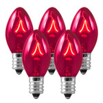 C7 Transparent Pink 5 Watt Replacement Bulbs