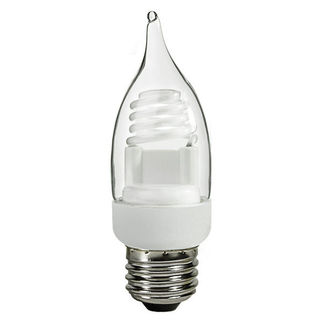 TCP 8TF03CL - 3 Watt - Dimmable Flame Tip CCFL - 30 W Equal - Warm White - Min. Start Temp. - 20 Deg. - 25,000 Life Hours