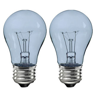 GE 48696 - 40 Watt - A15 - Transparent Neodymium - Appliance Bulb - 1,000 Life Hours - 320 Lumens - 120 Volt - 2 Pack
