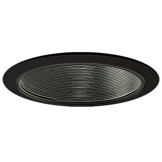 Nora NTM-40B - 6 in. - Black Stepped Baffle with Black Ring