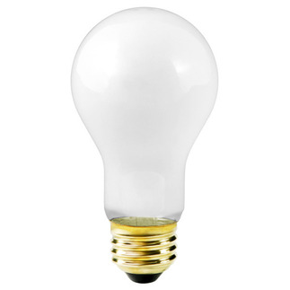 75 Watt - Frosted - A21 Light Bulb - Medium Base - 130 Volt - 5,000 Life Hours - Satco S3934 Standard Light Bulb