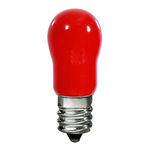 PLT 6S6120VRED - 6 Watt - S6 Indicator - Red - Candelabra Base - 1,500 Life Hours - 120 Volt