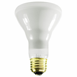 65 Watt - BR25 - Reflector Flood - 120 Volt - Medium Base - Incandescent Light Bulb - Satco S2806