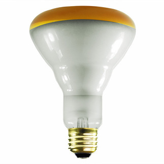 75 Watt - BR30 - Amber - Flood - 130 Volt - 2,000 Life Hours - Satco S3239