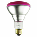 75 Watt - BR30 - Pink - Flood - 130 Volt - 2,000 Life Hours - Satco S3213