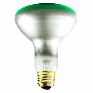 Green BR30 Flood Light Bulb