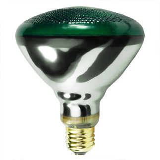 100 Watt - Green - BR38 - Weatherproof - Flood - 230 Volt - 2,000 Life Hours -  Satco S5005