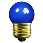 7.5 Watt - S11 - Opaque Blue - 120 Volt - Medium Base - Party Light Bulb - Satco S3608