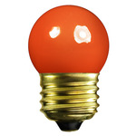 7.5 Watt - S11 - Opaque Orange - 120 Volt - Medium Base - Party Light Bulb - Satco S3610