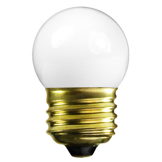 7.5 Watt - S11 - Frosted - 120 Volt - Medium Base - Party Light Bulb - Satco S3607 S11 Bulb
