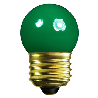 7.5 Watt - S11 - Opaque Green - 120 Volt - Medium Base - Party Light Bulb - Satco S3609