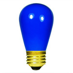 11 Watt - S14 - Opaque Blue - 130 Volt - Medium Base - Sign Light Bulb - Satco S3963