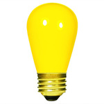 11 Watt - S14 - Opaque Yellow - 130 Volt - Medium Base - Sign Light Bulb - Satco S3960