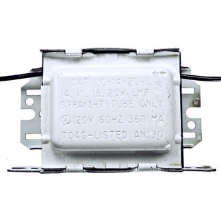 Advance LC1420CI - 120 Volt - Preheat Start - Ballast Factor 0.84 - Power Factor 58% - Min. Temp. Rating 50 Deg. F - Operates (1) F20T12 Fluorescent Lamp