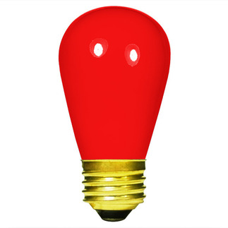 Opaque Red S14 Sign Bulb