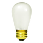 11 Watt - S14 - Frosted - 130 Volt - Medium Base - Sign Light Bulb - Satco S3966