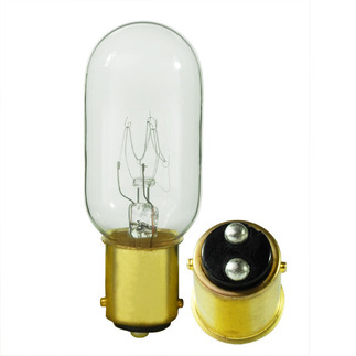 25 Watt - T8 - 130 Volt - DC Bayonet Base - Tubular Light Bulb - Satco S3909 Picture Light