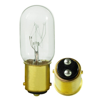 15 Watt - T7 - 130 Volt - DC Bayonet Base - Tubular Light Bulb - Satco S3906 Picture Light