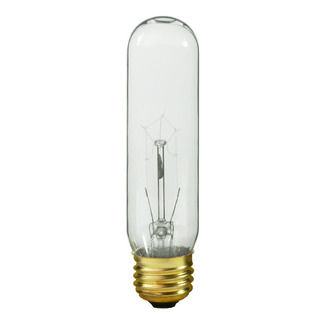 60 Watt - T10 - 120 Volt - Medium Base - Tubular Light Bulb - Satco S3896 Picture Light