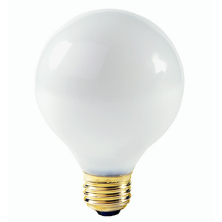 60 Watt - G25 - White - 3-1/8 in. Dia. - 130 Volt - 3,000 Life Hours - Decorative Globe - Medium Base - Satco A3642