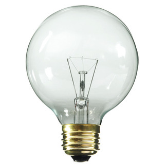 40 Watt - G25 - Clear - 3-1/8 in. Dia. - 220 Volt - 2,500 Life Hours - Decorative Globe- Medium Base - Satco A3644