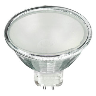 Satco S4123 - 65 Watt - Frosted Glass Face - MR16 - 12 Volts - FPB Flood - 2,000 Life Hours - Halogen Light Bulb