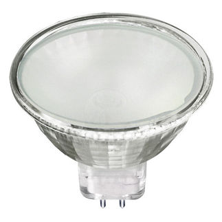 35 Watt - Frosted Glass Face - MR16 - 12 Volts - FMW Flood - Halogen Light Bulb - Satco S4121