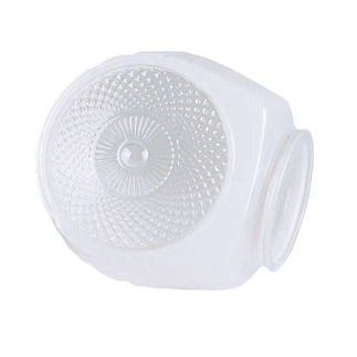 White with Clear Bottom Bath Shade - SATCO 50-111