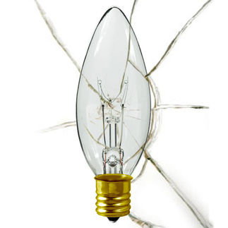 Shatter Resistant - 40 Watt - B10 - Straight Tip - 130 Volt - Intermediate Base - Chandelier Decorative Light Bulb - 1000Bulbs.com 40B10N