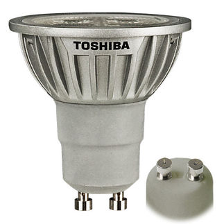 Toshiba 7GU10/830NFL25 - 6.5 Watt - 120 Volt - GU10 Base - Dimmable LED - MR16 - Warm White - Narrow Flood - 1100 Candlepower - 20 Watt Equal