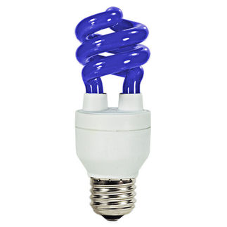 11 Watt - 40 W Equal - Blue - CFL Light Bulb - Sunshine Lighting 05431