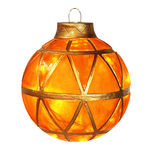Illuminated - Hanging Mosaic Ball - Gold - 11.5 in. - 10 Bulbs - Barcana 57-1078-02