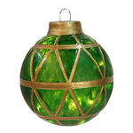 Illuminated - Hanging Mosaic Ball - Green - 11.5 in. - 10 Bulbs