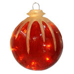 Illuminated - Hanging Icy Ball - Red - 12 in. - 10 Bulbs - Barcana 57-1076-01