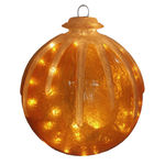 Illuminated - Hanging Icy Ball - Gold - 16 in. - 20 Bulbs - Barcana 57-1077-02
