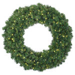 Clear - 120 Volt - Pre-Lit - Alaskan Fir Wreath - Ready Trim - 200 Lights - 48 in.