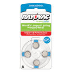 Zinc Air Battery - 1.4 Volt - For Hearing Aids - 675 Size - Rayovac L675ZA-8ZM